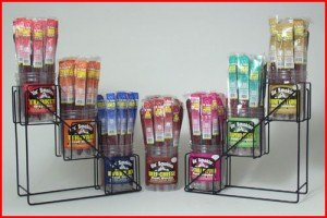 Meat Sticks with Display Stand - with Border